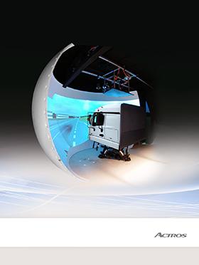 Simulator-Projektionshalbkugel