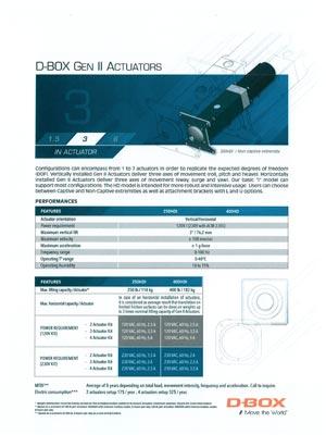 D-Box Gen II 3 Technische Daten