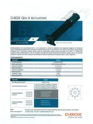 D-Box Gen II 6 Technische Daten